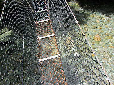Closeup of bridge.