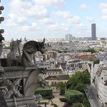Gargoyles keep watch over Paris