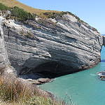 Famous arch in the rock at Cape Farewell.