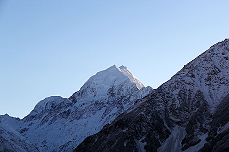 Mount Cook, early in the morning.