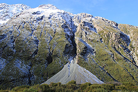 The birth of a scree slope.